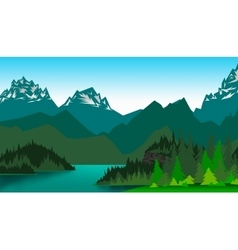 Picture mountain valley vector