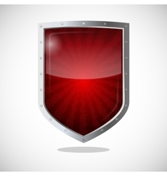 Protection armor shield concept Security vector image