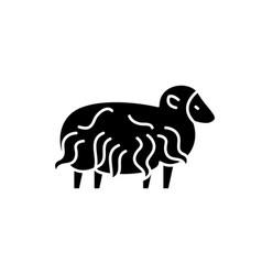 ram black icon sign on isolated background vector image