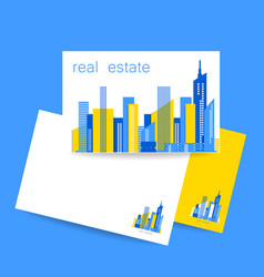 real estate template design vector image