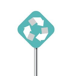 Recycling center road pointer vector image