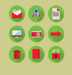 Red-Green Flat Icon vector