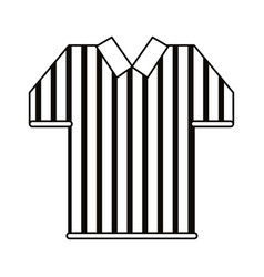 referee jersey stripes american football outline vector image