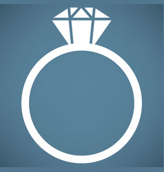 ring icon vector image