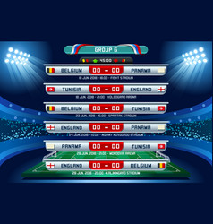 Russia world cup group g vector