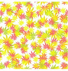 seamless texture marijuana one vector image