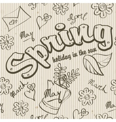 Seamless texture - the spring of doodles vector image