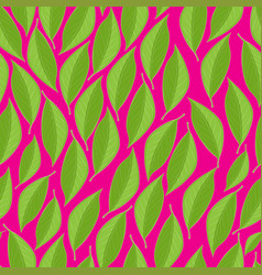 Seamless texture with green leaves on a vector