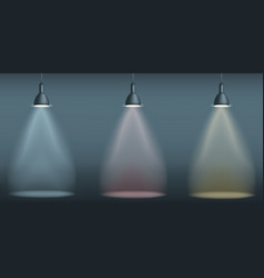 Set abstract background spotlight on stage with vector