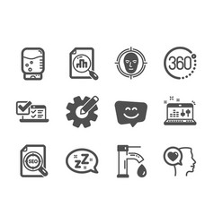 Set technology icons such as tap water sound vector