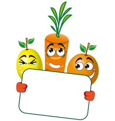 Sign fruit ACE vector image