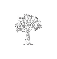 single continuous line drawing quiver tree vector image
