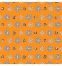 Small Simple Flowers on Orange Background vector image