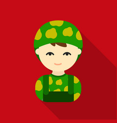 Soldier flat icon for web and mobile vector