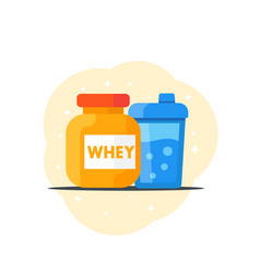 sport nutrition icon flat style vector image