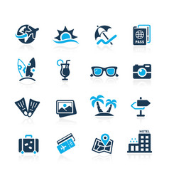 Summer vacations icons vector
