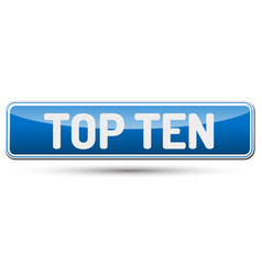top ten - abstract beautiful button with text vector image
