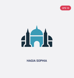 Two color hagia sophia icon from monuments vector