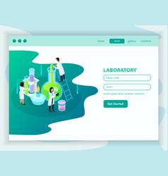 vaccines development isometric web page vector image