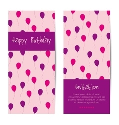 Vertical birthday greeting card vector