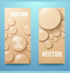 water drops vertical banners set vector image