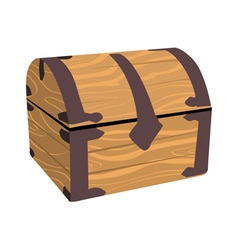 wooden treasure or pirate chest vector image vector image