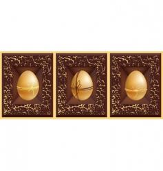 3D eggs vector image