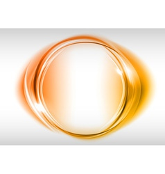 abstract round on white red vector image