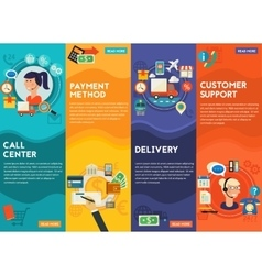 CustomerSupport Call Center Payment Methods vector image