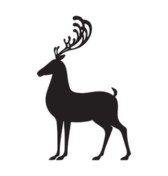 Deer black isolated elk vector image