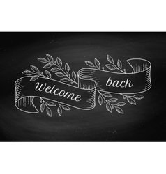 Greeting card with inscription Welcome back in vector image vector image