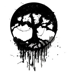 Grunge abstract tree vector image