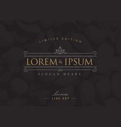 luxury logos flourishes calligraphy elegant vector image vector image