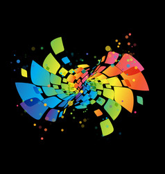 rainbow background abstract multicolored design vector image vector image