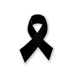 Black ribbon on white background vector image
