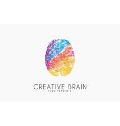Brain logo Color brain logo design Creative vector image