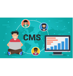 business banner - content management system vector image vector image