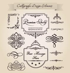 Calligraphic design elements vector