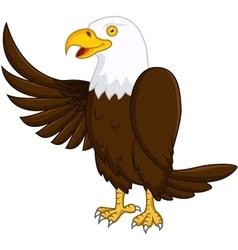 eagle cartoon vector image vector image