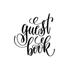 Guest book hand lettering romantic quote vector