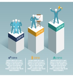Leadership infographic set vector image vector image