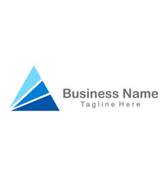 shape triangle blue business finance company logo vector image