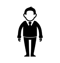 Businessman Black Silhouette Web Icon vector image vector image