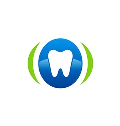 dentist care medical abstract logo vector image vector image