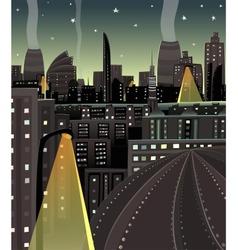 Night Cityscape Cartoon vector image