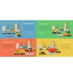 Set of Building and Construction Web Banners vector image