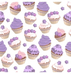 Set with different cakes vector image