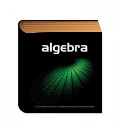 algebra book vector image vector image