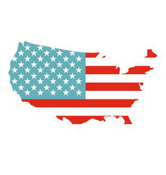 American map icon isolated vector