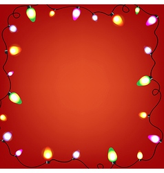 Colorful Bulb Garland vector image